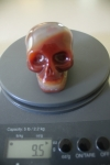 SOLD OUT 9.5 Ounce Sha Na Ra Charged Crystal Carnelian Skull